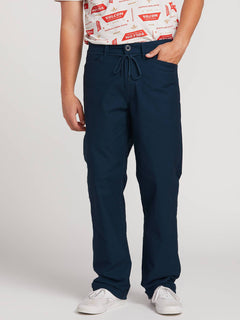 Vsm Gritter Plus Chino Pants In Indigo, Front View