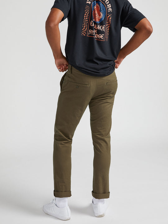 Frickin Modern Stretch Pants - Army Green Combo