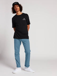 Frickin Modern Stretch Chino Pants In Blue, Back View