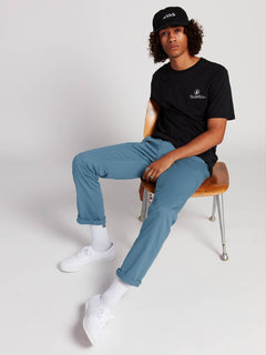 Frickin Modern Stretch Chino Pants In Blue, Front View