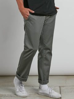 Frickin Modern Stretch Chino Pants In Dusty Green, Alternate View