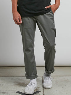 Frickin Modern Stretch Chino Pants In Dusty Green, Front View