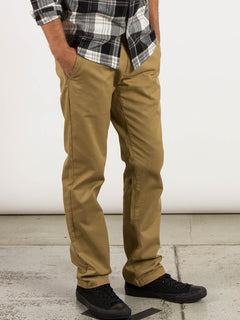 Frickin Modern Stretch Chino Pants In Dark Khaki, Alternate View