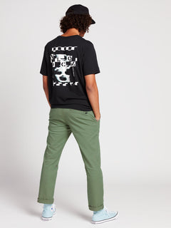 Frickin Modern Stretch Chino Pants In Faded Army, Alternate View