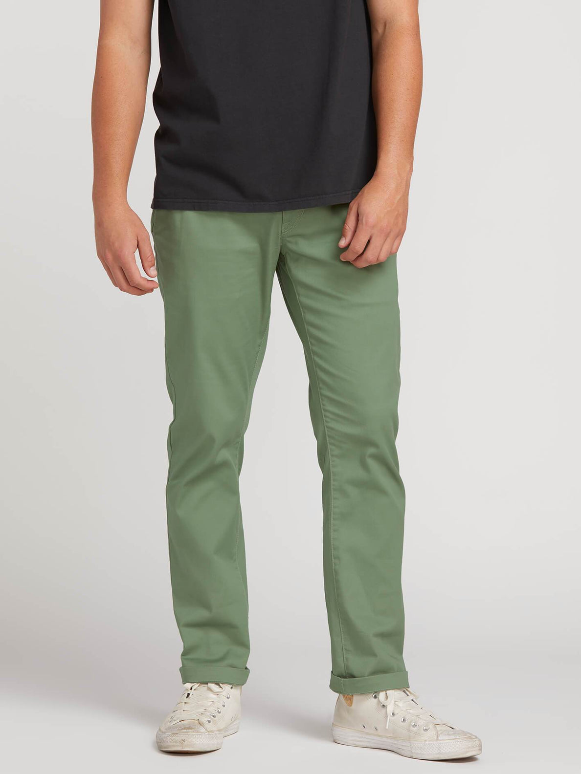 01aa5a71 Frickin Modern Stretch Chino Pants In Faded Army, Second Alternate View ...