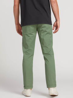 Frickin Modern Stretch Chino Pants In Faded Army, Third Alternate View