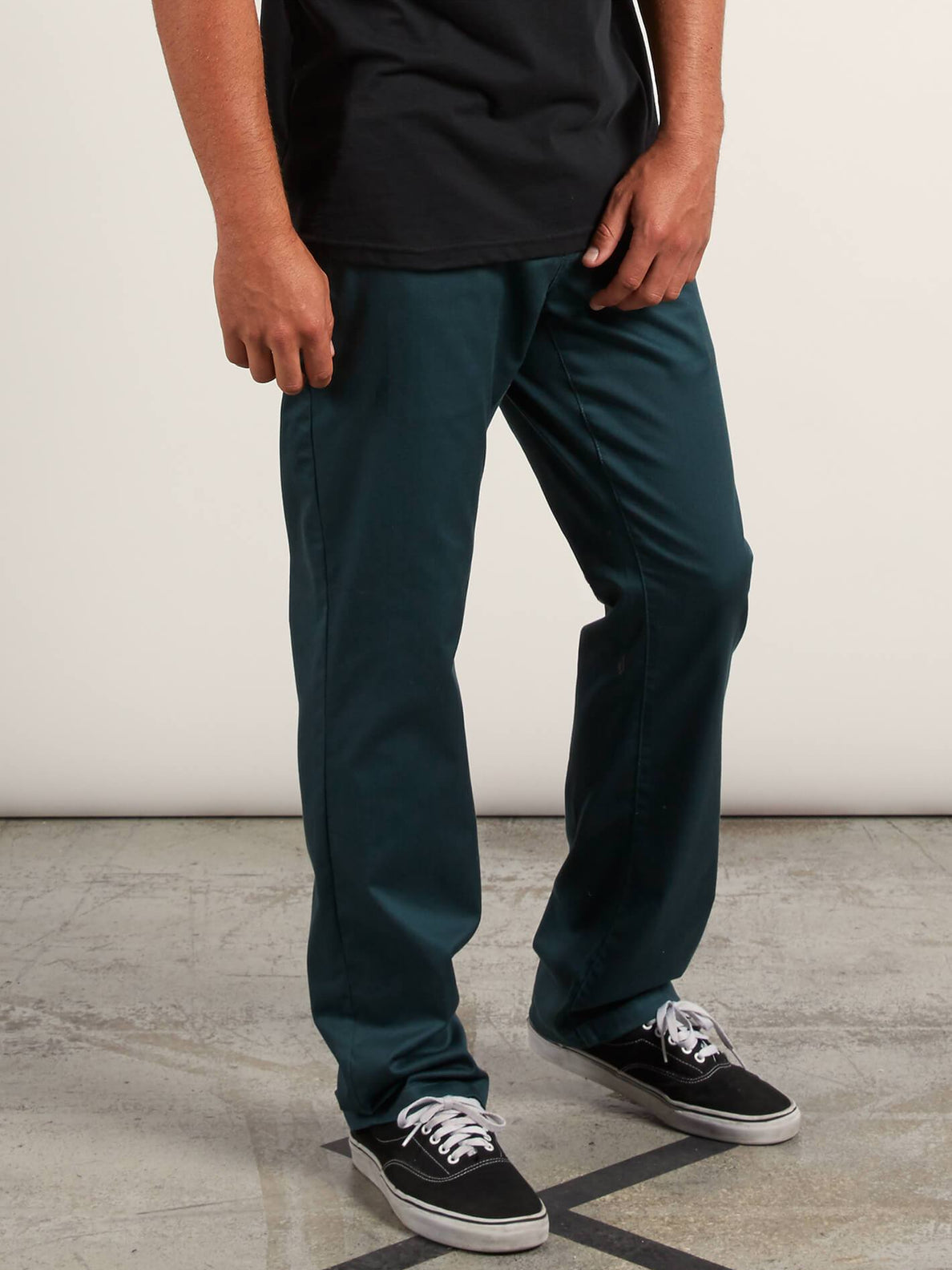 Frickin Modern Stretch Chino Pants In Navy Green, Alternate View