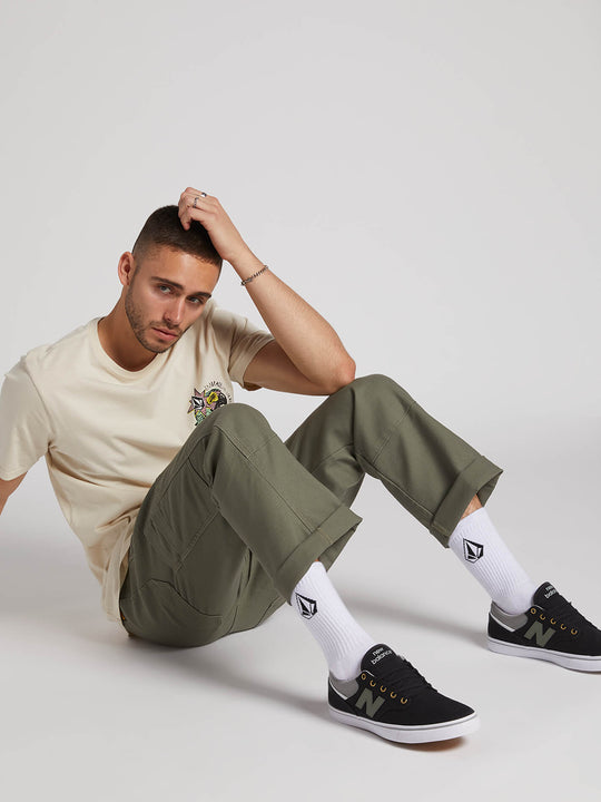 Nailer Canvas Pants - Army Green Combo (A1131902_ARC) [8]