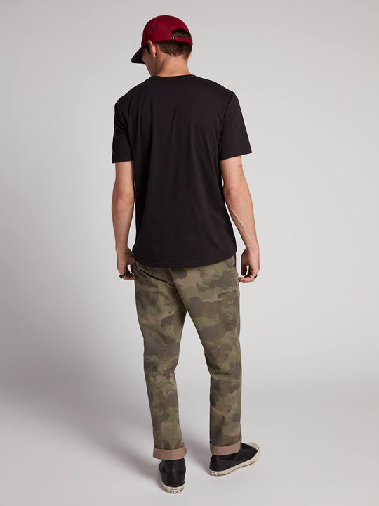 Frickin Regular Chino Pants W/ Cell Phone Pocket In Camouflage, Back View