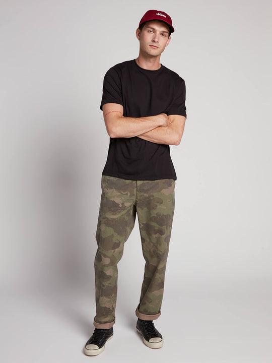 Frickin Regular Chino Pants W/ Cell Phone Pocket In Camouflage, Front View