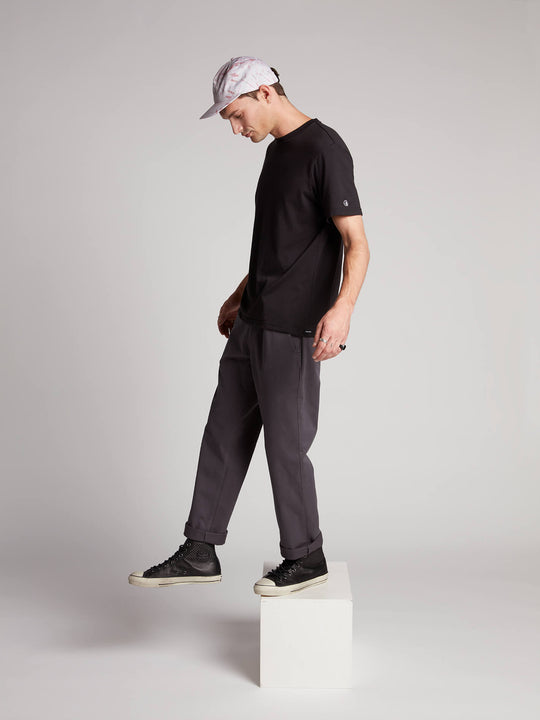 Frickin Regular Chino Pants W/ Cell Phone Pocket In Charcoal Grey, Alternate View