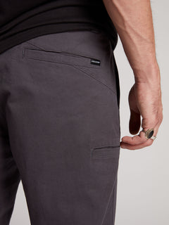 Frickin Regular Chino Pants W/ Cell Phone Pocket In Charcoal Grey, Fifth Alternate View
