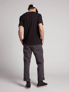 Frickin Regular Chino Pants W/ Cell Phone Pocket In Charcoal Grey, Back View