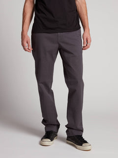 Frickin Regular Chino Pants W/ Cell Phone Pocket In Charcoal Grey, Front View