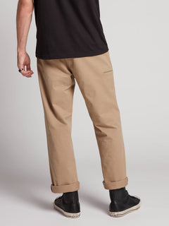 Frickin Regular Chino Pants W/ Cell Phone Pocket In Khaki, Back View