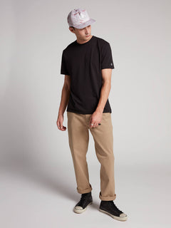 Frickin Regular Chino Pants W/ Cell Phone Pocket In Khaki, Front View
