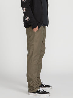 Riser Comfort Chino Pants - Army Green Combo (A1221900_ARC) [3]