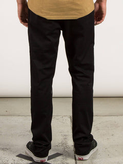 Frickin Comfort Chino Pants In Black, Back View