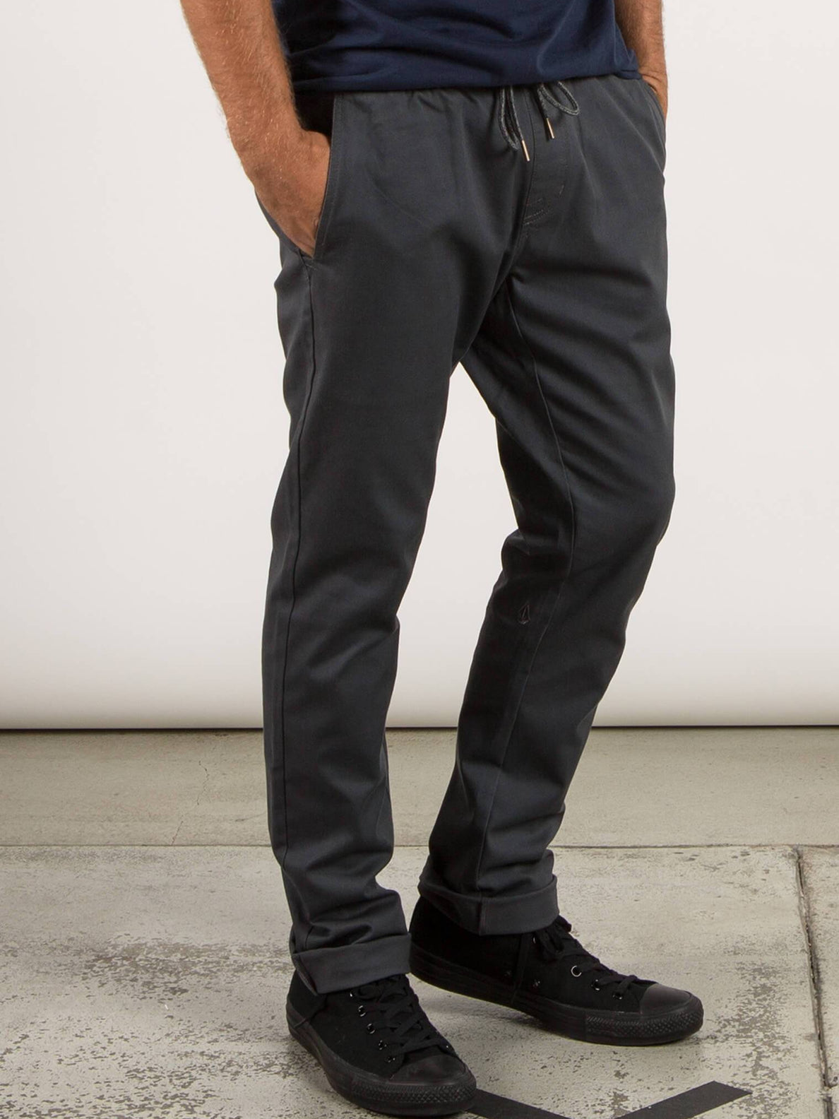 Frickin Comfort Chino Pants In Charcoal Grey, Alternate View