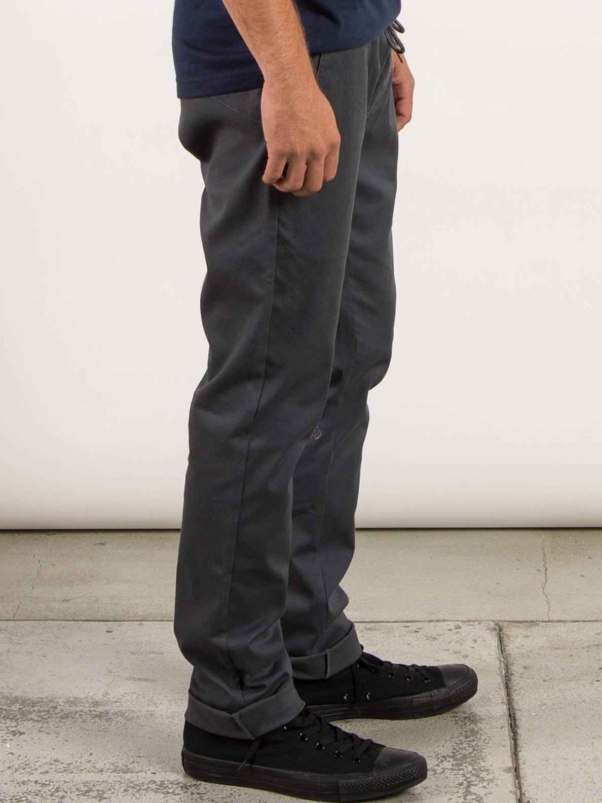Frickin Comfort Chino Pants In Charcoal Grey, Second Alternate View