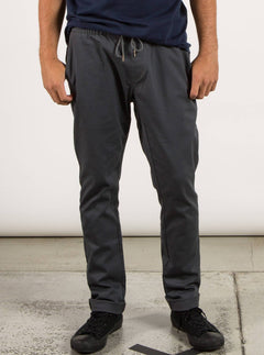 Frickin Comfort Chino Pants In Charcoal Grey, Front View