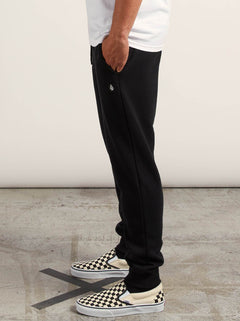 Sngl Stone Flc Pant In Black, Alternate View