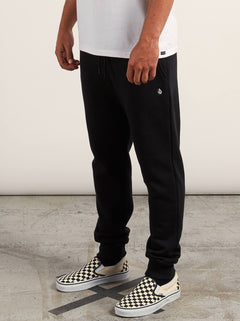 Sngl Stone Flc Pant In Black, Second Alternate View