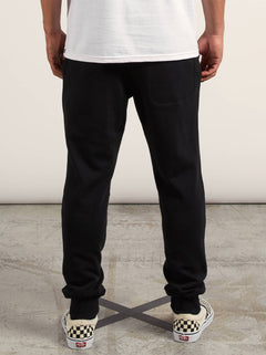 Sngl Stone Flc Pant In Black, Back View