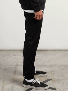 Frickin Modern Tapered Jogger Pants In Black, Alternate View