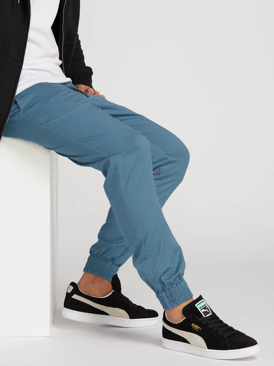 Frickin Modern Tapered Jogger Pants In Blue, Second Alternate View