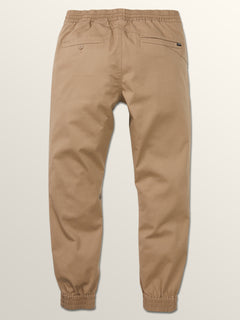 Frickin Modern Tapered Jogger Pants In Khaki, Fourth Alternate View