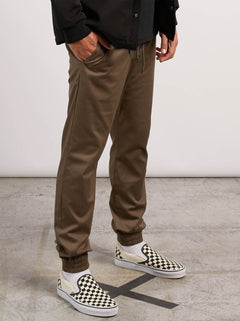 Frickin Modern Tapered Jogger Pants In Mushroom, Second Alternate View