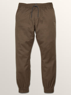 Frickin Modern Tapered Jogger Pants In Mushroom, Third Alternate View