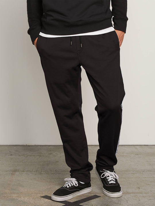 Album Track Pants In Black, Front View
