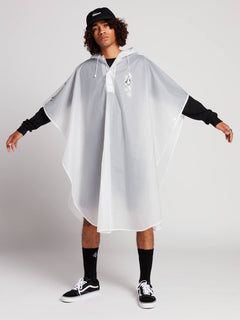Deadly Stones Rain Poncho In Clear, Second Alternate View