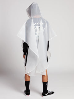 Deadly Stones Rain Poncho In Clear, Third Alternate View