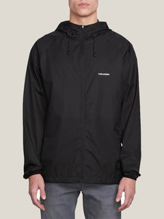 Stone Lite Jacket In Black, Front View