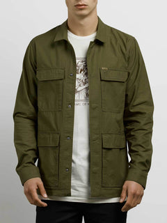 Academy Jacket In Seaweed Green, Alternate View
