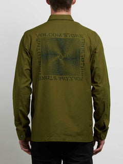 Academy Jacket In Seaweed Green, Back View