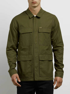 Academy Jacket In Seaweed Green, Front View