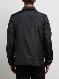 Brews Coach Jacket In Black, Back View