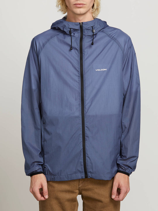 Stone Lite Jacket In Indigo, Front View