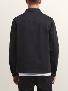Burkey Jacket In Black, Back View