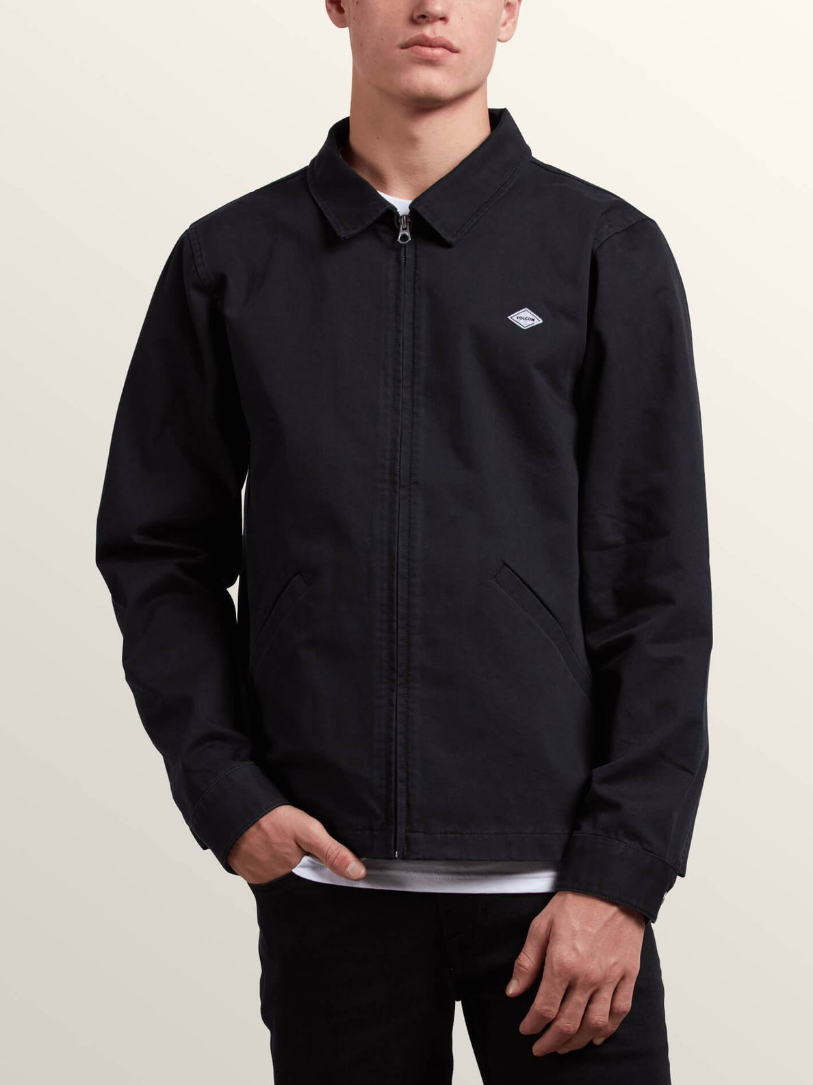 Burkey Jacket In Black, Front View