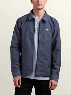 Burkey Jacket In Midnight Blue, Alternate View