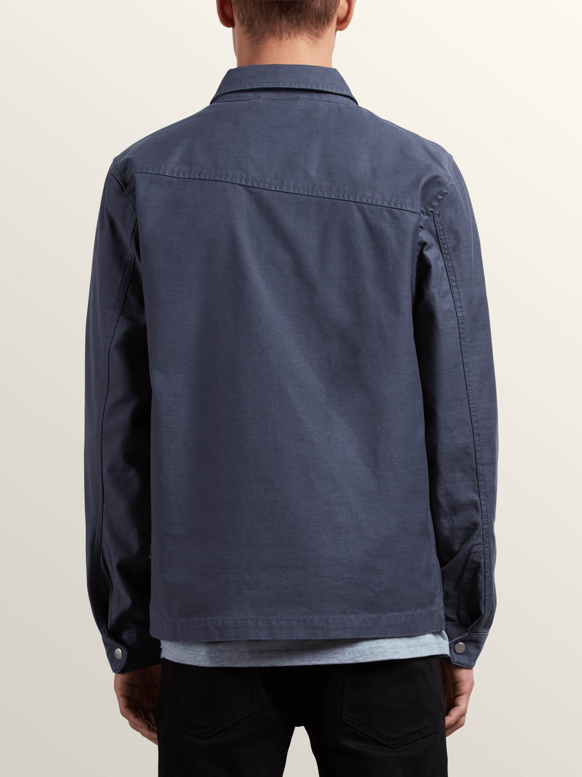 Burkey Jacket In Midnight Blue, Back View