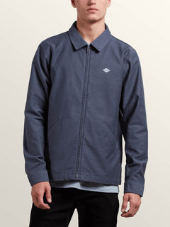 Burkey Jacket In Midnight Blue, Front View
