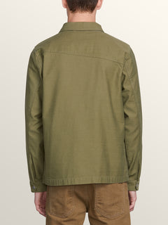 Burkey Jacket In Vineyard Green, Back View