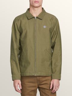 Burkey Jacket In Vineyard Green, Front View