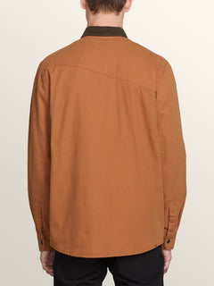 Larkin Jacket In Camel, Back View